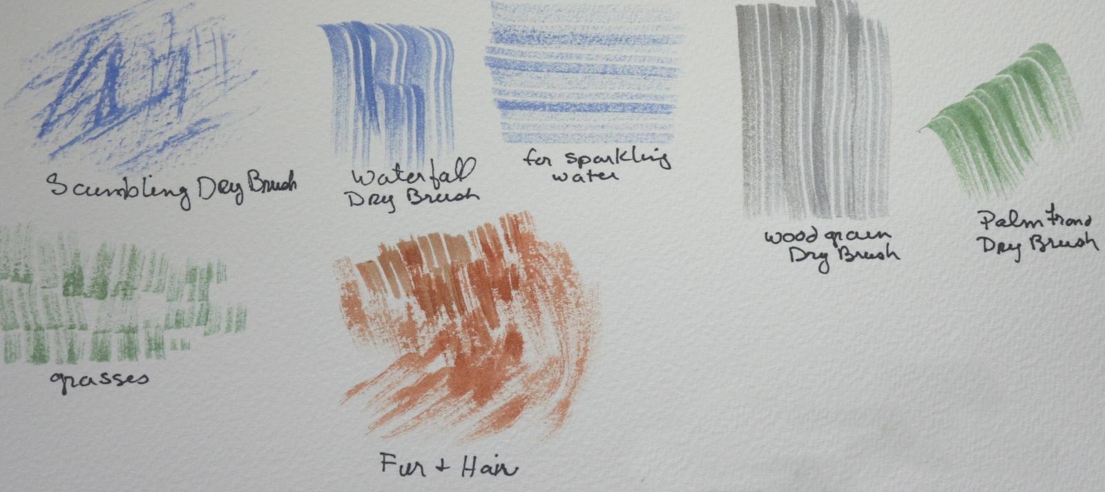 Kết quả hình ảnh cho Kỹ thuật vẽ màu nước khô